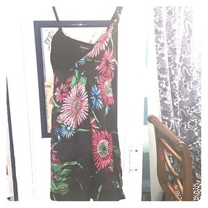 Adorable multi color tropical floral summer dress